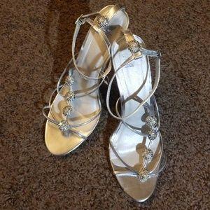 Shiehk Issey Silver Heels